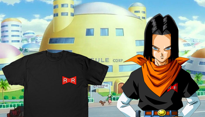 Red Ribbon Android 17 Cosplay T-Shirt